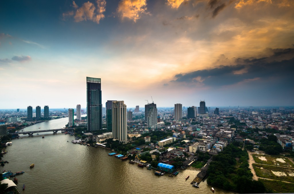 Chao Phraya view in Bangkok