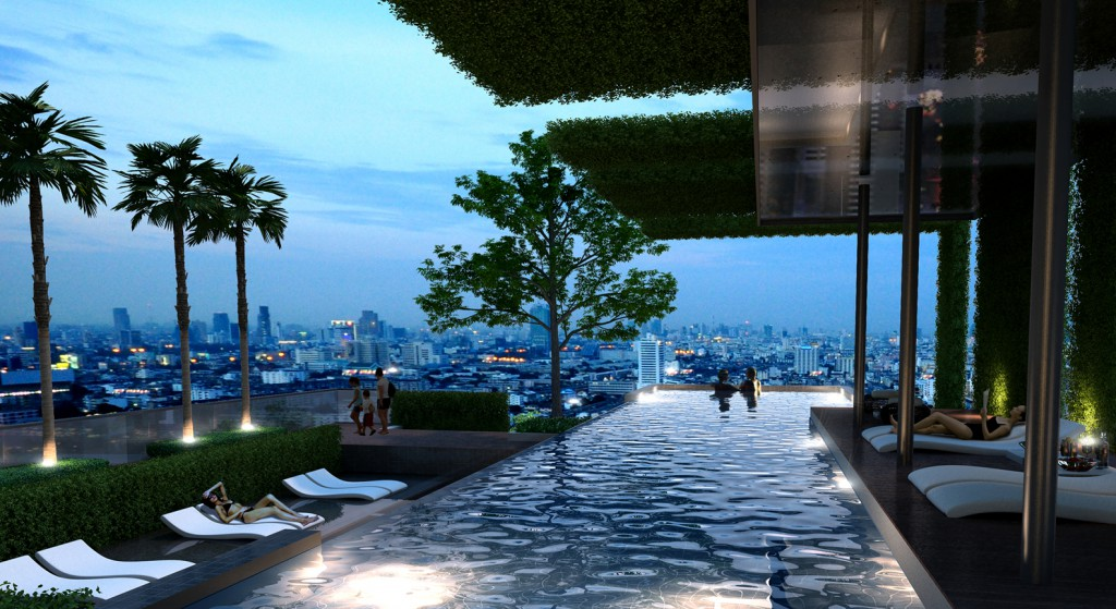 Circle 2 Project Swimming pool in Bangkok